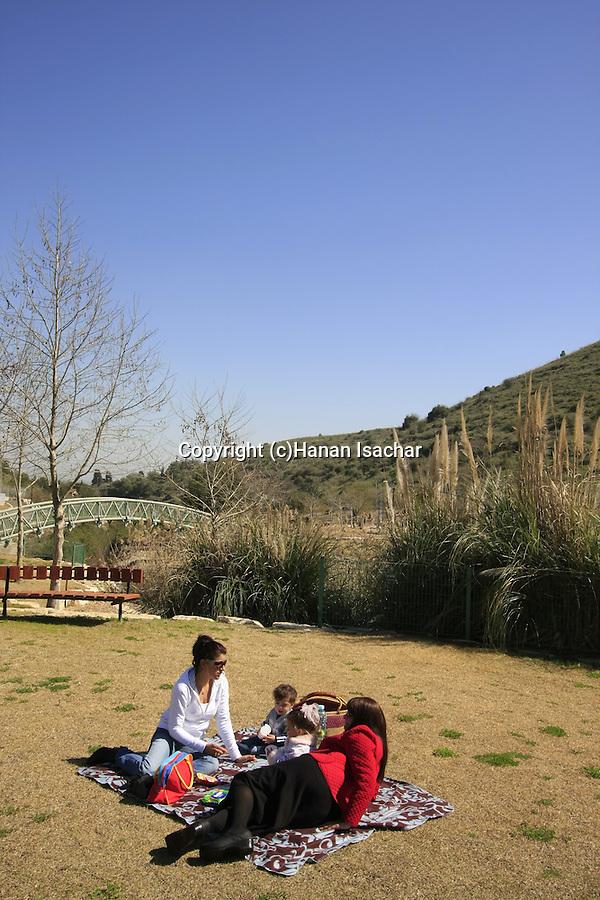 Israel, Nahal Keret park in Yokneam