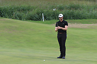Peter O'Keeffe (Douglas) on the 7th green during the 1/4 Finals of the AIG Irish Close Championship at the European Club, Brittas Bay, Wicklow, Ireland on Monday 6th August 2018.<br /> Picture: Thos Caffrey / Golffile<br /> <br /> All photo usage must carry mandatory copyright credit (&copy; Golffile | Thos Caffrey)