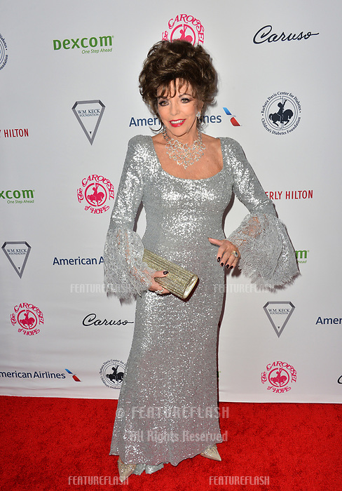 LOS ANGELES, CA. October 06, 2018: Joan Collins at the 2018 Carousel of Hope Ball at the Beverly Hilton Hotel.<br /> Picture: Paul Smith/Featureflash