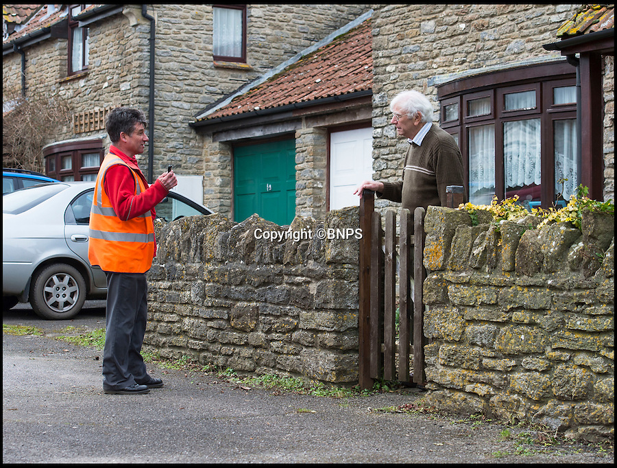 BNPS.co.uk (01202 558833)<br /> Pic: PhilYeomans/BNPS<br /> <br /> Mick Leak's postal round has been saved by the local people of Chetnole, Dorset.<br /> <br /> A much-loved village postman who faced losing his round has been reinstated after the locals he served for 24 years staged a vociferous campaign to save his job.The community in the unspoilt village of Chetnole in Dorset launched a petition, put up banners and lobbied the Royal Mail when they were told their beloved postman, Mick Leak, would no longer deliver to their village.Instead, a more senior colleague whose round was to merge with Mr Leak's route under plans to modernise the service was given first choice over the job.Now the usually mild-mannered people of Chetnole have been called 'disgraceful' by the postal worker's union after the postman due to take over pulled out because he felt 'intimidated' by their 'hostile' campaign.