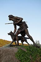 Indian Hunter sculpture by John Quincy Adams Ward, 1897, Cooperstown, New York