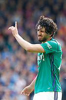 Ahmed Hegazi of West Brom disputes a decision during the EPL - Premier League match between Crystal Palace and West Bromwich Albion at Selhurst Park, London, England on 13 May 2018. Photo by Carlton Myrie / PRiME Media Images.