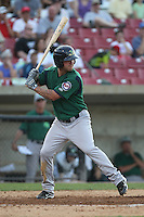Beloit Snappers shortstop Tyler Grimes #11 bats during a game against the Kane County Cougars at Fifth Third Bank Ballpark on June 26, 2012 in Geneva, Illinois. Beloit defeated Kane County 8-0. (Brace Hemmelgarn/Four Seam Images)