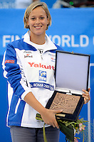 Roma 2nd August 2009 - 13th Fina World Championships From 17th to 2nd August 2009....Swimming finals..Federica Pellegrini (ITA) awarded with the Fina Swimmer of Roma09 World Championships....photo: Roma2009.com/InsideFoto/SeaSee.com