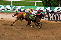 """ELMONT, NEW YORK - OCT 7: Firenze Fire #12, ridden by Irad Ortiz Jr., wins the Champagne Stakes, a """"Win & You're In' event, at Belmont Park on October 6, 2017 in Elmont, New York. ( Photo by Dan Heary/Eclipse Sportswire/Getty Images)"""