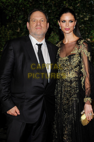 LONDON, ENGLAND - FEBRUARY 16: Harvey Weinstein and Georgina Chapman attends EE British Academy Film Awards afterparty at the Grosvenor Hotel on February 16, 2014 in London, England. <br /> CAP/CJ<br /> &copy;Chris Joseph/Capital Pictures