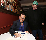 Michael Mayer and Michael Moore during the Michael Moore And Michael Mayer portrait unveilings as the join the Wall of Fame at Sardi's on September 21, 2017 at Sardi's in New York City.