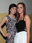 Karen Keelan and Megan Martin pictured at the Tullyallen white collar boxing. Photo: Colin Bell/pressphotos.ie