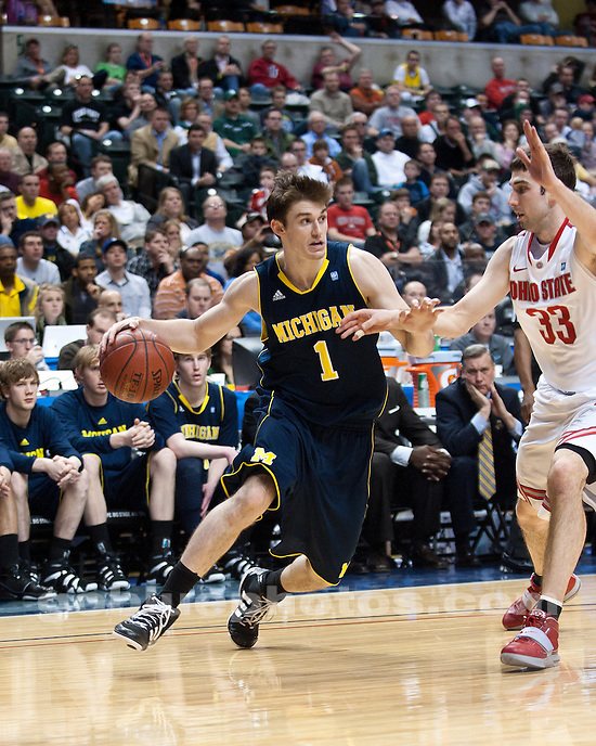 University of Michigan men's basketball 68-61 loss to Ohio State University in the Big Ten Tournament semifinals at Conseco Fieldhouse in Indianapolis, Ind. on March 12, 2010.
