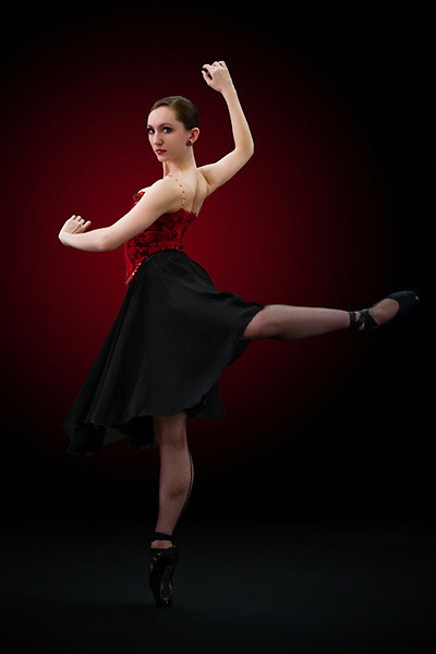 Rebecca Brimall poses for a marketing and promotion piece for Nevada Ballet Theatre.
