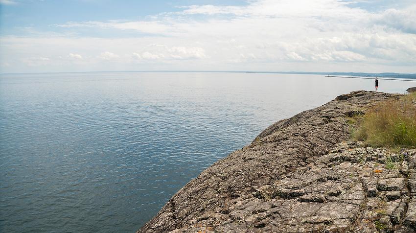 The Black Rocks area of Presque Isle Park in Marquette, Michigan.
