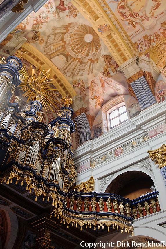 Orgel Wallfahrtskirche Svieta Lipka, Woiwodschaft Ermland-Masuren (Wojew&oacute;dztwo warmińsko-mazurskie), Polen, Europa<br /> Organ in the Pilgrimage Church Svieta Lipka, Poland, Europe