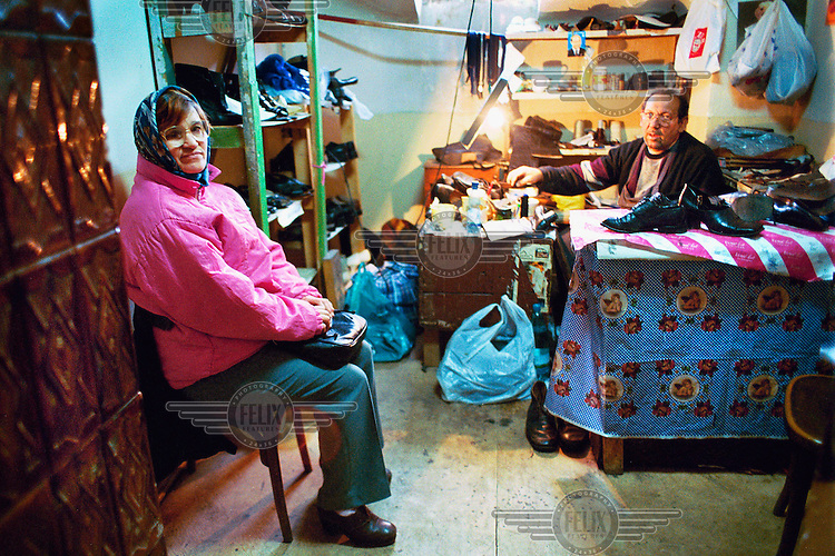 The relief organisation Omenia, which is run by and for elderly people. They offer a variety of subsidised services to poor pensioners, including small loans, repairing shoes and clothes, hairdressing and food distribution.