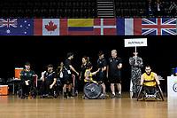Jayden Warn (AUS) vs GB<br /> Australian Wheelchair Rugby Team<br /> 2018 IWRF WheelChair Rugby <br /> World Championship / Semi Finals<br /> Sydney  NSW Australia<br /> Thursday 9th August 2018<br /> &copy; Sport the library / Jeff Crow / APC