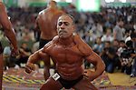 Palestinian men compete in a bodybuilding contest in Gaza City, Saturday, Oct. 12, 2013. Approximately 52 men competed in the contest, and over 1000 people attended the event. Although not the first of its kind to be held in the Gaza Strip, bodybuilding contests are rare in the Hamas controlled territory. Photo by Ashraf Amra