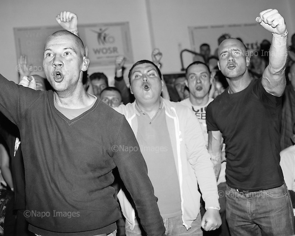 Wrzesnia 2015 Poland<br /> Supporters cheering during the M.M.A. Slugfest fights.<br /> <br /> Adam Lach / Napo Images dla Kolekcja Wrzesinska