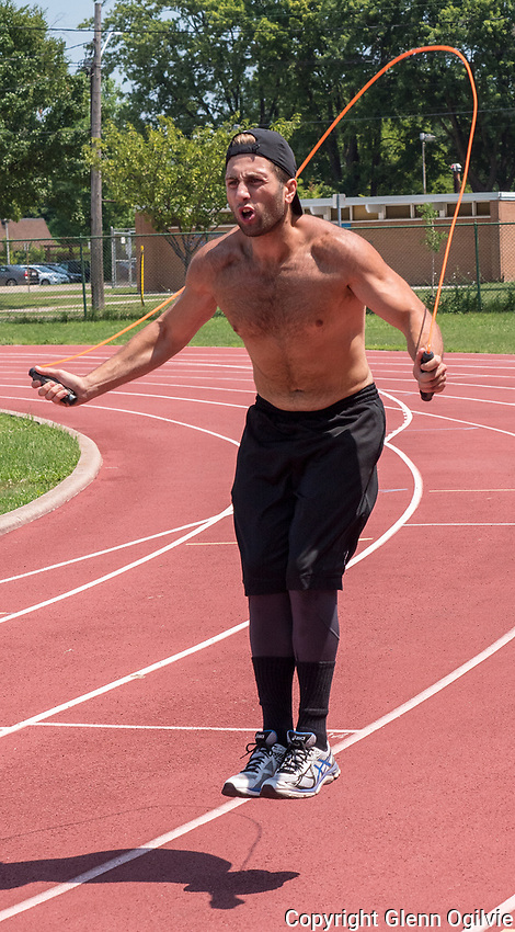 Six days a week Chris Abate, of Sarnia does a rigorous workout to help keep fit and to help share his knowledge with others. Abate is a personal fitness trainer who has a fitness channel on You Tube. Besides working out at the Sarnia Central Athletic Facility on East Street, he has boxed competitively, ran marathons and endurance events. His workout videos can be found at AbateTV on You Tube.
