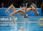 LONDON, ENGLAND - AUGUST 9:  Team China during the Synchronized Swimming Team Competition, Day 14 of the London 2012 Olympic Games on August 8, 2012 at Olympic Park in London, England. (Photo by Donald Miralle)
