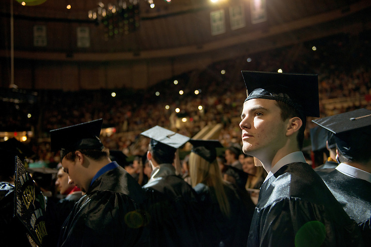 Nicholas Haas at undergraduate commencement. Photo by Ben Siegel