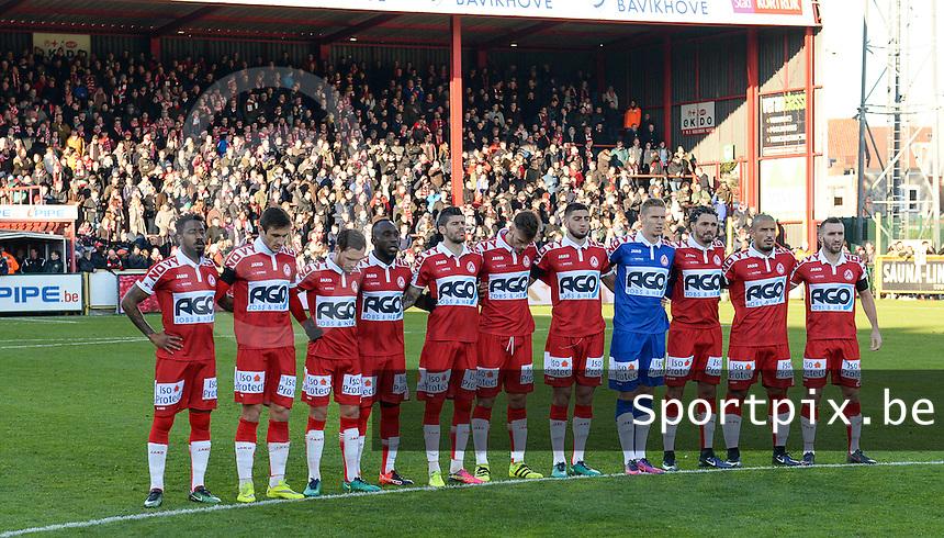 KV Kortrijk - RSC Anderlecht : 1 minuut stilte voor de wedstrijd<br /> Foto David Catry | VDB | Bart Vandenbroucke