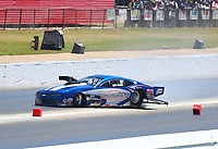 May 7, 2017; Commerce, GA, USA; NHRA pro mod driver Larry Morgan loses control and spins during the Southern Nationals at Atlanta Dragway. Mandatory Credit: Mark J. Rebilas-USA TODAY Sports