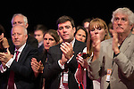 © Joel Goodman - 07973 332324 . 25/09/2016 . Liverpool , UK . ANDY BURNHAM applauds for Jo Cox at a session marking the assassinated MP's memory , at the ACC in Liverpool , during the first day of the Labour Party Conference . Photo credit : Joel Goodman