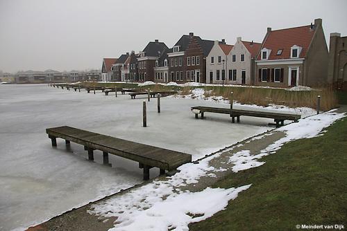Esonstad bij Oostmahorn in de winter