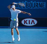 Andrey Kuznetsov..Tennis - Australian Open - Grand Slam -  Melbourne Park  2013 -  Melbourne - Australia - Wednesday 16th January  2013. .© AMN Images, 30, Cleveland Street, London, W1T 4JD.Tel - +44 20 7907 6387.mfrey@advantagemedianet.com.www.amnimages.photoshelter.com.www.advantagemedianet.com.www.tennishead.net
