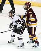 Kevin Sullivan (Union - 16), Brady Lamb (Duluth - 2) - The University of Minnesota-Duluth Bulldogs defeated the Union College Dutchmen 2-0 in their NCAA East Regional Semi-Final on Friday, March 25, 2011, at Webster Bank Arena at Harbor Yard in Bridgeport, Connecticut.