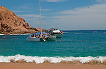 Beautiful clear water provides great snorkeling at Santa Maria beach near Cabo San Lucas, Mexico.