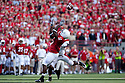 26 September 2009: Nebraska wide receiver Curenski Gilleylen makes the catch for 42 yards in the first quarter against Louisiana-Lafayette at Memorial Stadium, Lincoln, Nebraska. Nebraska defeats Louisiana Lafayette 55 to 0.