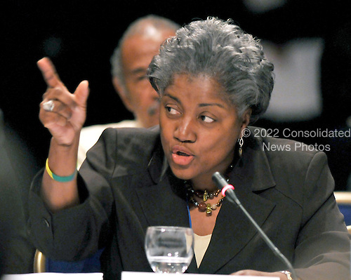 Washington, DC - May 31, 2008 -- Democratic National Committee (DNC) Rules and Bylaws Committee member Donna Brazile asks questions during the testimony on seating the Florida Delegation at the meeting of the  at the Marriott Wardman Park Hotel on Saturday, May 31, 2008..Credit: Ron Sachs / CNP.(RESTRICTION: NO New York or New Jersey Newspapers or newspapers within a 75 mile radius of New York City)