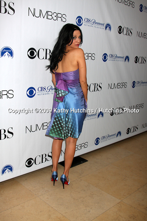 Navi Rawat, in a Zac Posen dress,  arriving at the Numb3rs 100th Episode Party at the Sunset Tower Hotel in West Hollywood,  California on April 21, 2009.©2009 Kathy Hutchins / Hutchins Photo....                .