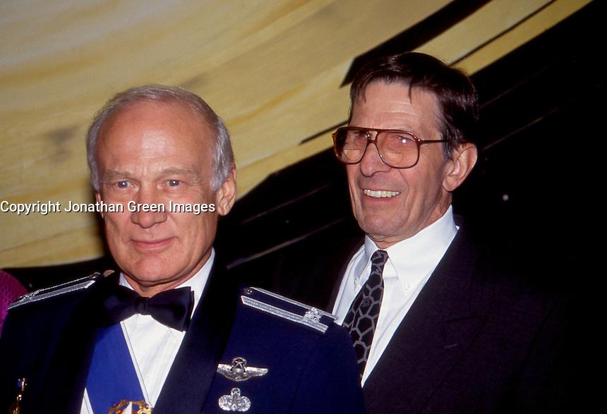 Buzz Aldrin & Leonard Nimoy 1992 by<br /> Jonathan Green