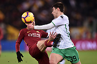 Alessandro Florenzi Roma and Cristian Dell'Orco competes for the ball.<br /> Roma 26-12-2018 Stadio Olimpico<br /> Football Calcio Campionato Serie A<br /> 2018/2019 <br /> AS Roma - Sassuolo<br /> Foto Antonietta Baldassarre / Insidefoto