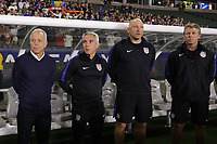 Carson, CA - Sunday January 28, 2018: Dave Sarachan, Richie Williams, Matt Reis, John Hackworth prior to an international friendly between the men's national teams of the United States (USA) and Bosnia and Herzegovina (BIH) at the StubHub Center.