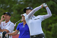Sung Hyun Park (KOR) watches her tee shot on 12 during round 1 of  the Volunteers of America LPGA Texas Classic, at the Old American Golf Club in The Colony, Texas, USA. 5/4/2018.<br /> Picture: Golffile | Ken Murray<br /> <br /> <br /> All photo usage must carry mandatory copyright credit (&copy; Golffile | Ken Murray)