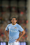 Caros Tevez during the Joan Gamper Trophy match between Barcelona and Manchester City at the Camp Nou Stadium on August 19, 2009 in Barcelona, Spain. Manchester City won the match 1-0.