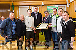 At the  Tralee Municipal District annual awards ceremony  on Friday,  in the Council chambers Presented by Kerry Mayor Michael O'Shea to the Kerry Juniors  l-r Jimmy Keane, Jeremiah O'Shea, Paul O'Donoghue, Tim Murphy, Kieran Hurley, Stephen Wallace, Niall Horgan