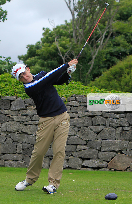 Jack McGarry (Rosslare) on the 1st tee during R2 of the 2016 Connacht U18 Boys Open, played at Galway Golf Club, Galway, Galway, Ireland. 06/07/2016. <br /> Picture: Thos Caffrey | Golffile<br /> <br /> All photos usage must carry mandatory copyright credit   (&copy; Golffile | Thos Caffrey)