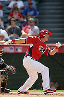 Logan Morrison of the Florida Marlins organization participates in the Futures Game at Angel Stadium in Anaheim,California on July 11, 2010. Photo by Larry Goren/Four Seam Images