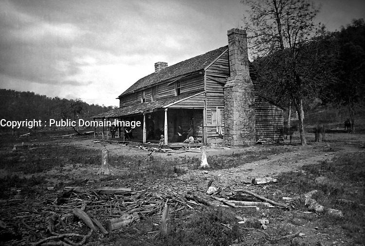 The John Ross House.  Ca.  1863-64.  George N. Barnard.  (War Dept.)<br /> Exact Date Shot Unknown<br /> NARA FILE #:  165-SC-16<br /> WAR & CONFLICT BOOK #:  174