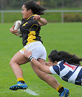 Ayesha Leti-l'iga in action during the Farah Palmer Cup women's provincial rugby match between Wellington Pride  and Auckland at Jerry Collins Stadium / Porirua Park, Wellington, New Zealand on Saturday, 23 September 2017. Photo: Dave Lintott / lintottphoto.co.nz