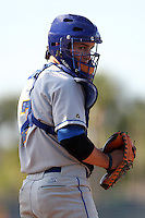 Indian River State College catcher Sam Kimmel (7) during a game vs. the State College of Florida Manatees at Robert C. Wynn Field in Bradenton, Florida;  February 22, 2011.  SCF defeated Indian River 3-0.  Photo By Mike Janes/Four Seam Images