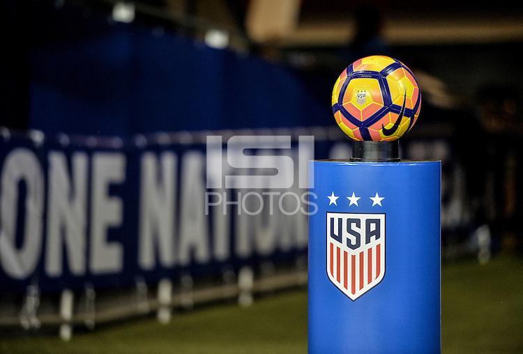 San Jose, CA - November 10, 2016: The U.S. Women's National team take on Romania in an international friendly game at Avaya Stadium.