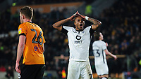 Swansea City's Andre Ayew reacts after failing to score with a header <br /> <br /> Photographer Chris Vaughan/CameraSport<br /> <br /> The EFL Sky Bet Championship - Hull City v Swansea City -  Friday 14th February 2020 - KCOM Stadium - Hull<br /> <br /> World Copyright © 2020 CameraSport. All rights reserved. 43 Linden Ave. Countesthorpe. Leicester. England. LE8 5PG - Tel: +44 (0) 116 277 4147 - admin@camerasport.com - www.camerasport.com