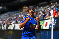 Seattle, WA - Thursday July 27, 2017: Brazil vs Japan in the 2017 Tournament of Nations during a 2017 Tournament of Nations match between the women's national teams of the Japan (JAP) and Brazil (BRA) at CenturyLink Field.