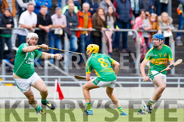 Garry O'Brien Ballyduff in action against John Griffin Lixnaw in the Senior County Hurling Final in Austin Stack Park on Sunday