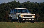 Range Rover (Classic) 2.5 Turbo D, Registration B378 TAC, Chassis No. SALLHAME7CA157990, modified by Land Rover for breaking speed records. Now part of the Dunsfold Collection of Landrovers, Surrey, UK. NO RELEASES AVAILABLE. Automotive trademarks are the property of the trademark holder, authorization may be needed for some uses. --- Info: This vehicle has a very interesting history, it was teh first diesel car to maintain a constant 100mph for 24 hours, breaking all diesel speed records in the mid 80s. To assist with this a few modifications had to be done. The fuel access is in the rear lower tailgate to enable quick re-fueling. Most of the glass has been replaced with perspex, rear seats removed, quick release bonnet catch, gauges and radio communication added. The reason for the record attempt was to get the press back on side, having previously given the Range Ropver Diesel a slating.
