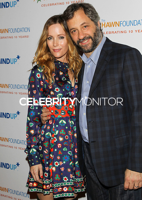 BEVERLY HILLS, CA, USA - NOVEMBER 21: Leslie Mann, Judd Apatow arrive at Goldie Hawn's Inaugural 'Love In For Kids' Benefiting The Hawn Foundation's MindUp Program held at Ron Burkle's Green Acres Estate on November 21, 2014 in Beverly Hills, California, United States. (Photo by Celebrity Monitor)